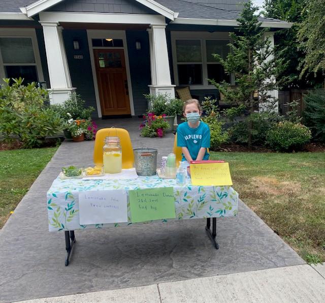 "7-Year-Old Sells Lemonade ""to Help Families"""